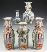 2017: 5 19th C. Chinese Rose Medallion Vases