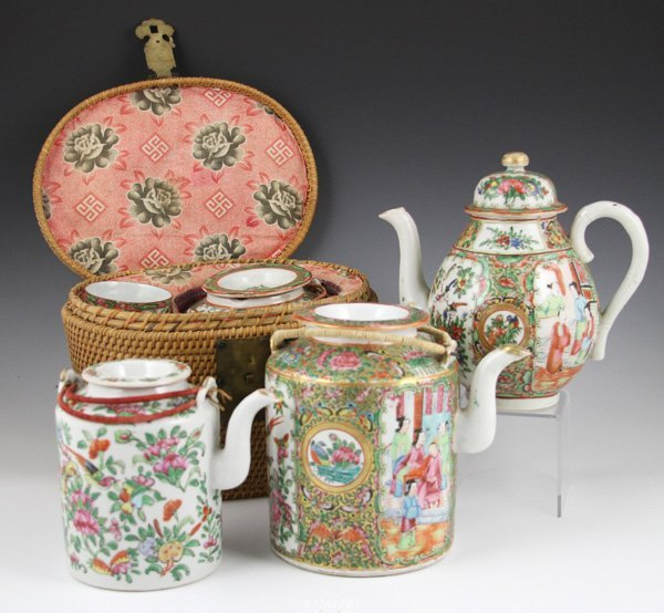 2018: 4 19th C. Chinese Teapots