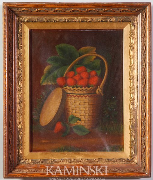 2022: 19th C. Basket with Strawberries, O/C