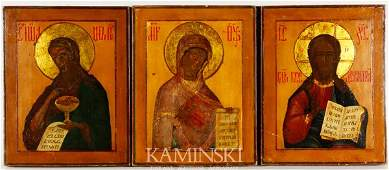 2213 Set of 3 Russian Icons