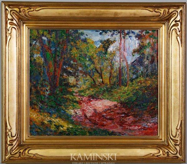 3002: Johnson, Wooded Landscape, O/B
