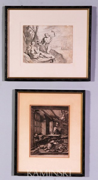 3005: 2 Woodblock Print
