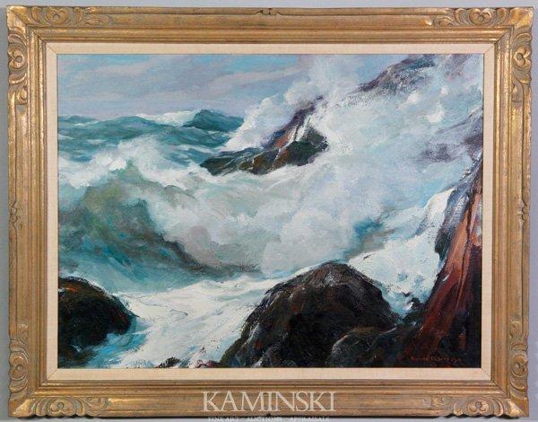 "3010: Gruppe, 'South West Wind Bass Rocks"", O/C"