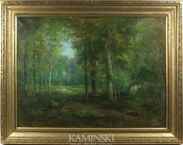 """3011: Shurtleff, """"The Forest Primeval"""", O/C"""