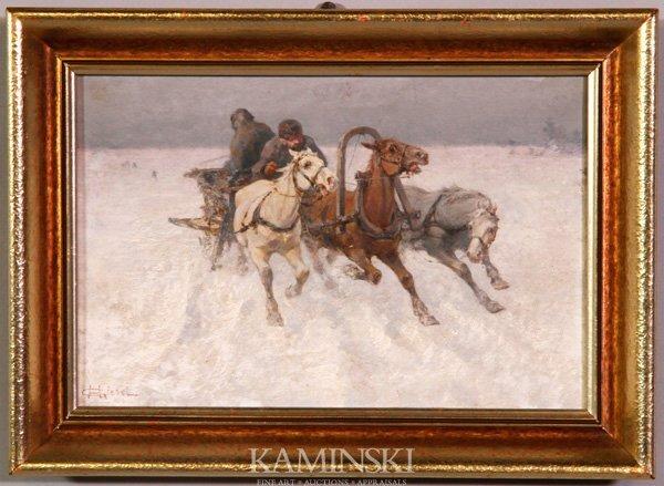 3013: Giesel, Winter Scene, O/B