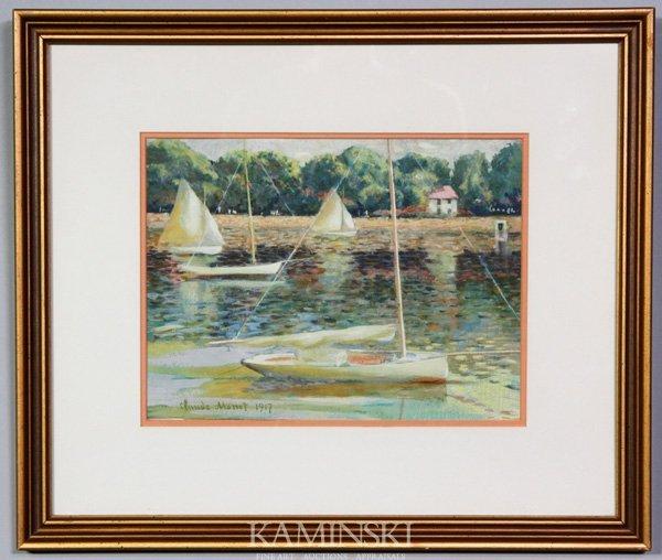 3018: After Monet, Sailboats, W/C