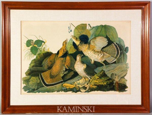 """3019: Audubon, """"Ruffed Grouse"""", Lithograph"""