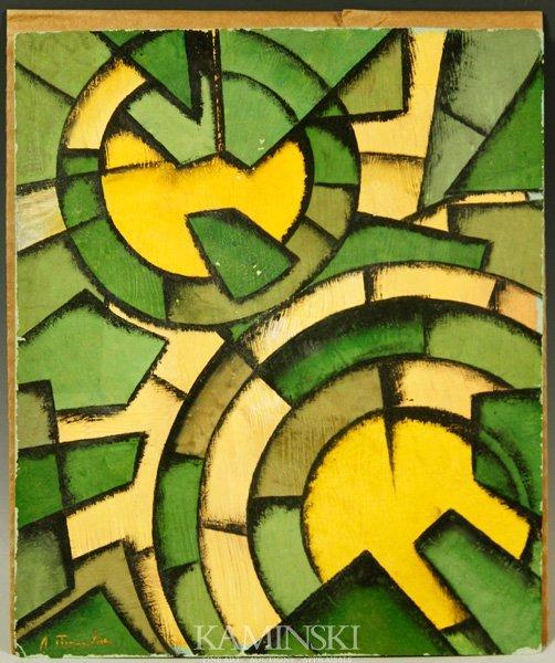 3020: Attr. Popova, Abstract, Gouache