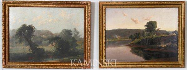 3021: Summer, Pair of Landscapes, O/B