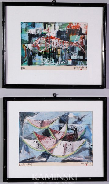 3024: Paree, Pair of Abstracts, W/C