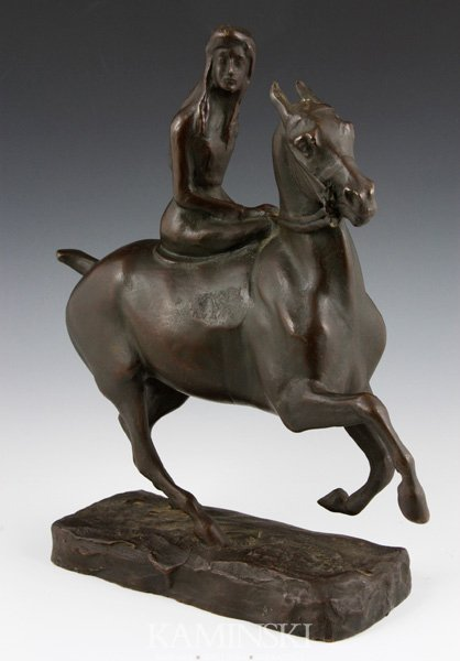3053: Kerfing, Girl on Horseback, Bronze