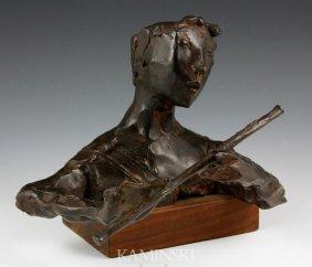 "Aronson, ""Boy With Flute"", Bronze"