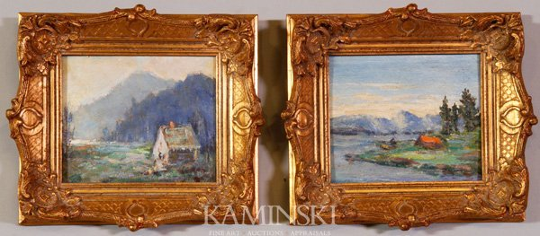 3074: Weindorf, Pair of Landscapes, O/B