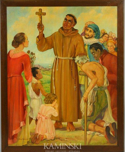 """3075: V. Buys Gateley, """"St. Francis,"""" O/C"""