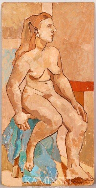 3077: Rubin, Female Nude, O/B