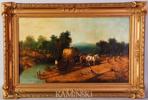 3080: Willis, Farm Scene, O/C