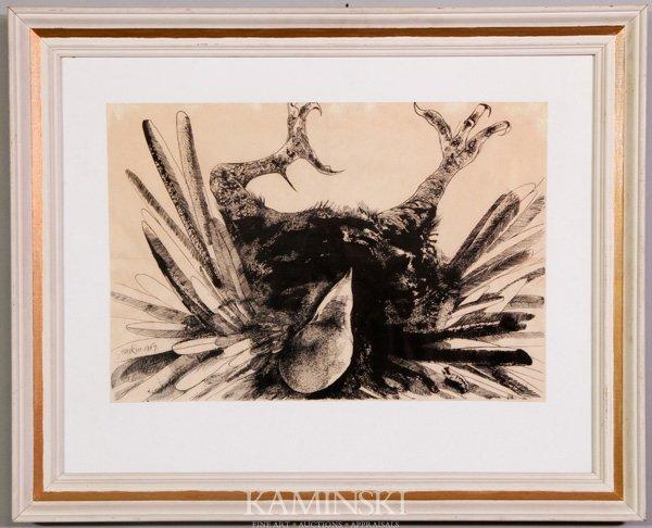 "3082A: Baskin, ""The Exploding Eagle"", Print"