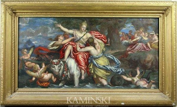 3086: 18th C. French Mythological Scene, O/C