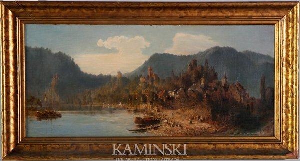 3088: Achenbach, Village along a River, O/C