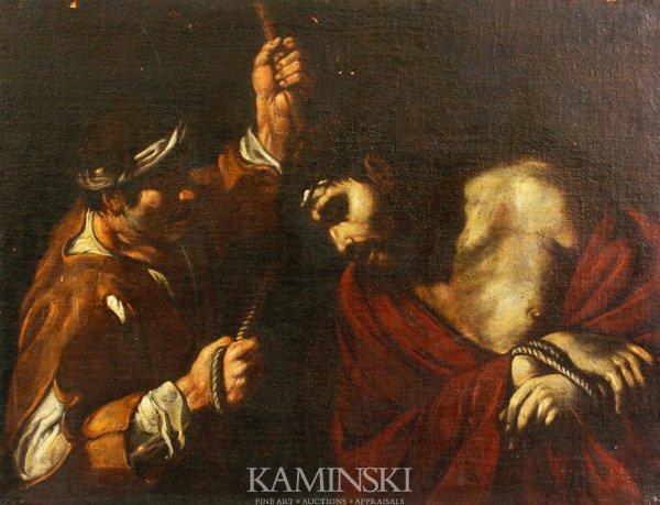 3092: 17th C. Italian, Mocking of Christ, O/C