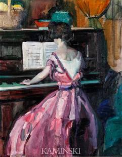 3114: Peterson, Woman at the Piano, O/C