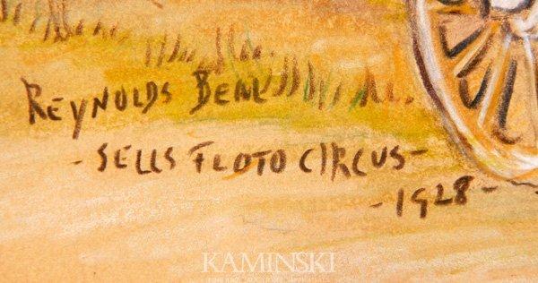"""3125: Beal, """"Sells Floto Circus"""", Crayon and Pencil - 3"""