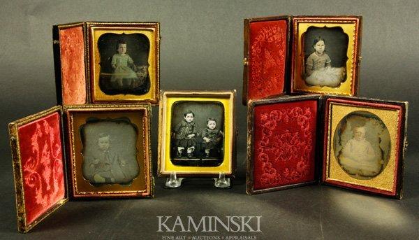 9009: 5 Daguerreotypes of Children