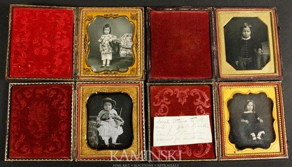 9010: Collection of 4 Daguerreotypes of Children