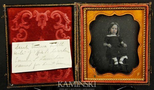 9010: Collection of 4 Daguerreotypes of Children - 4