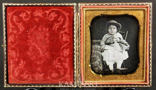 9010: Collection of 4 Daguerreotypes of Children - 5