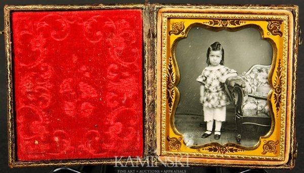 9010: Collection of 4 Daguerreotypes of Children - 6