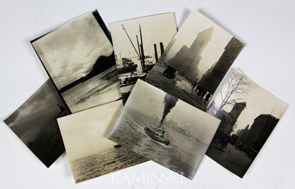 9015: 7 Photographs Depicting Flat Iron Buildings