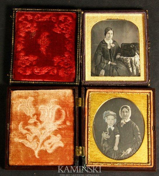 9020: 2 Rare Daguerreotypes of Women's Occupations