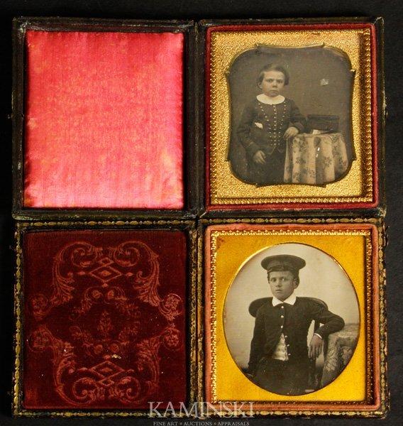 9022: 2 Daguerreotypes of Children