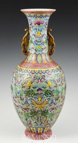 4001: Chinese Famille Rose Vase