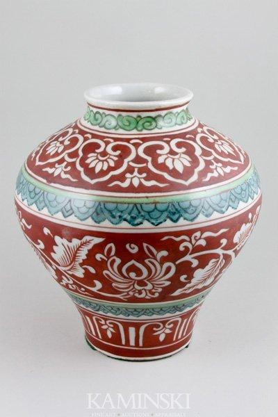 4080: Chinese 17th/18th C. Sancai Jar
