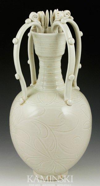 4084: Chinese White Glazed Vase