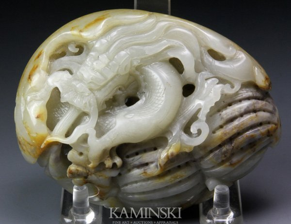 4092: Chinese 19th C. Jade Carving