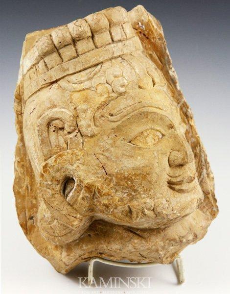 4096: Antique Stone Woman's Head