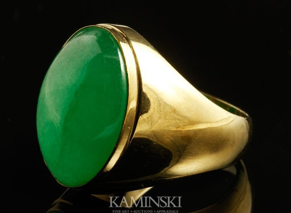 4130: 14K Gold and Jadeite Ring