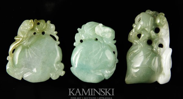 4351: 10 Chinese Carved Jade Ornaments - 3