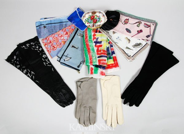 5002: Lot of Gloves, Scarves, and Small Purses