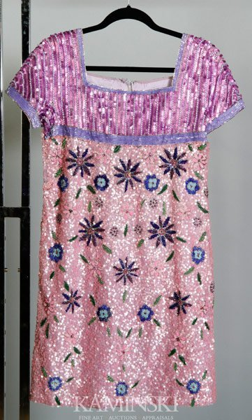 5023: Bead and Sequin Cocktail Dress