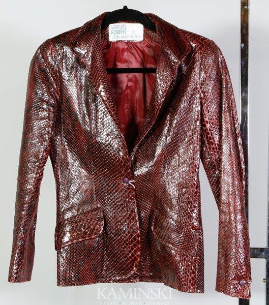 5037: Samuel Robert Snake Skin Jacket