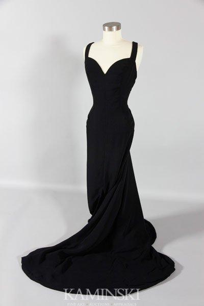 5100: Luis Estevez Black Evening Gown