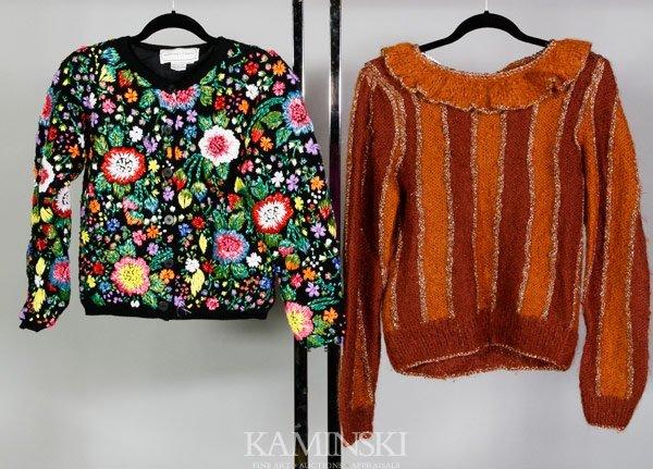 5218: 2 Adrienne Vittadini Sweaters