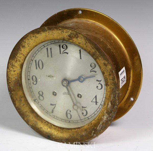 6005: Brass Chelsea Ship Bell Clock