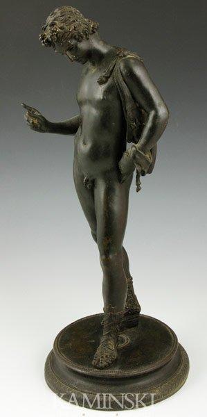 6015: 19th C. Classical Figure, Bronze