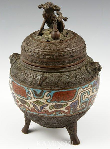 6016: Chinese Cloisonné Censer