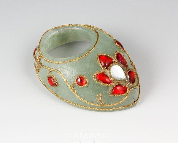 6022: Mughal Jade Archer's Ring